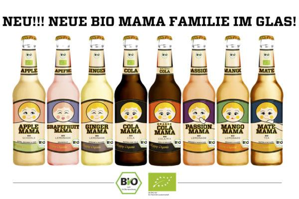 Neu ab KW 27 : Die MAMA Bio Lemonaden jetzt in der Glasflasche ….