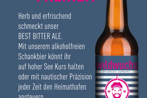 WILDWUCHS Große Freiheit , das erste alkoholfreie BIO Bier aus Hamburg…