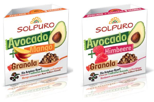 Frische Avocado -Frucht Bowls mit Granola von SOLPURO