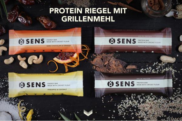 SENS , Protein Riegel mit Grillenmehl