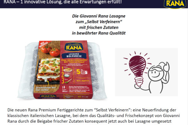 "GIOVANNI RANA – Launch neues Lasagnen-Konzept ""Final Touch"" ab KW 46"
