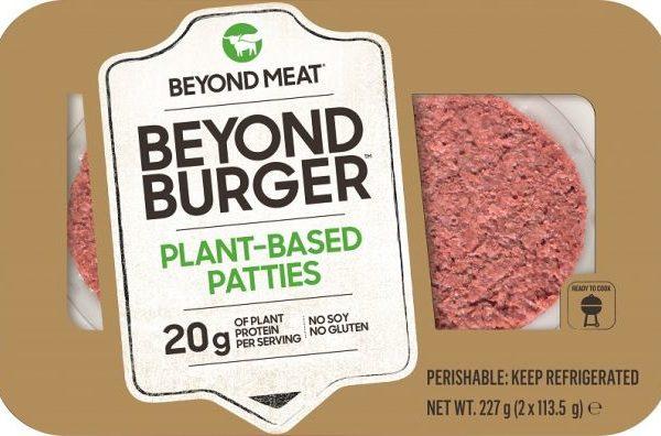Ab 3.2.20 ab Lager lieferbar : BEYOND , der vegane Burger auf Erbsen-Protein Basis ….