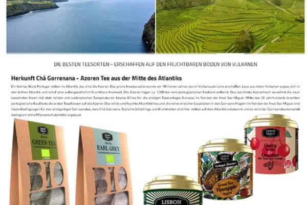 LISBON TEA Company , Teespezialitäten aus der einzigen Tee-Plantage Europas ….