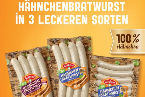 Aus der TV Werbung : Gutfried Hähnchen-Bratwurst für die Grillzeit ….
