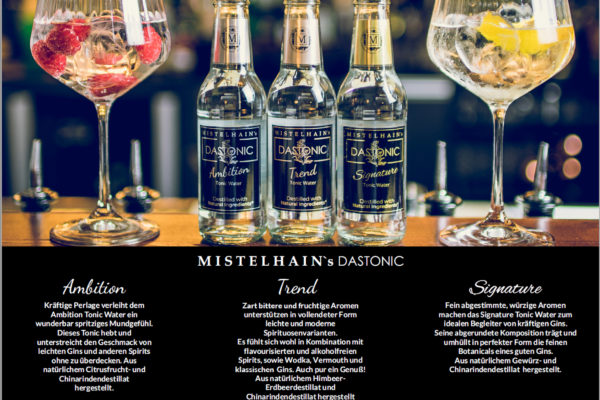 Mistelhain DASTONIC , Premium Tonic Water aus Deutschland